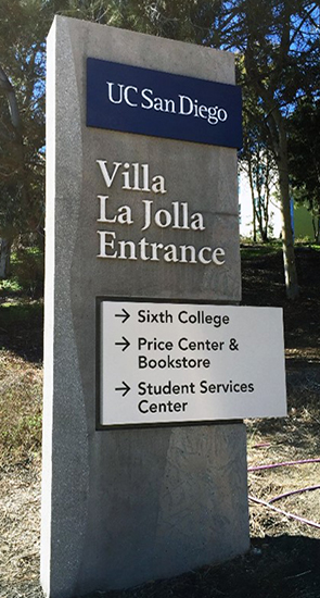 refreshed campus sign