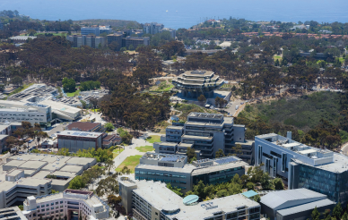 aerial view of central campus